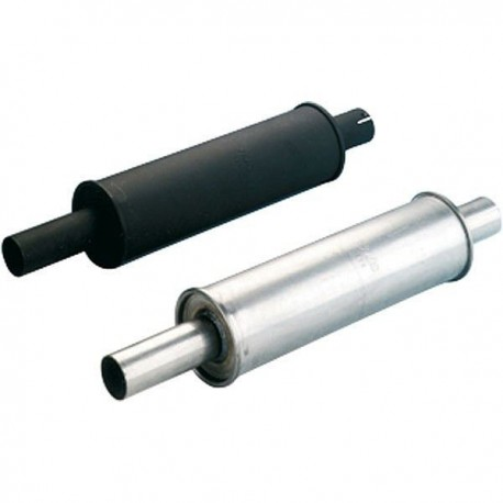 Silencer round stainless steel 125X450mm