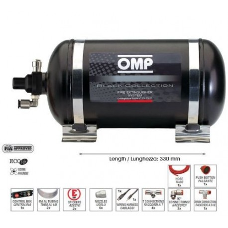 Omp fire extinguisher kit electric steel bottle