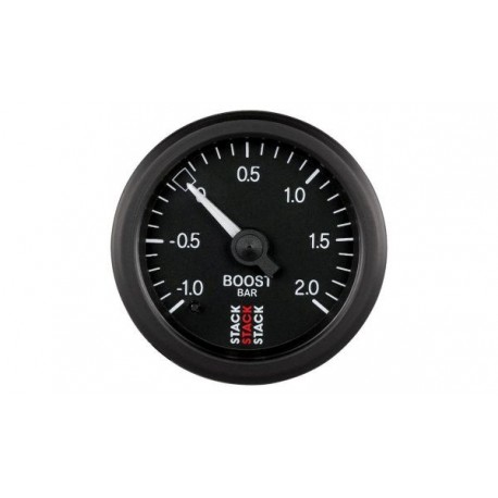 Stack Turbo Boost Pressure Gauge - Mechanical (-1.0+2.0 bar)