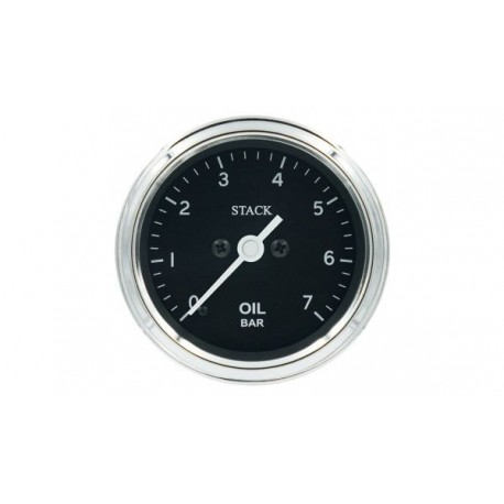Stack Professional Oil Pressure Gauge (0-7 bar) - black - CLASSI