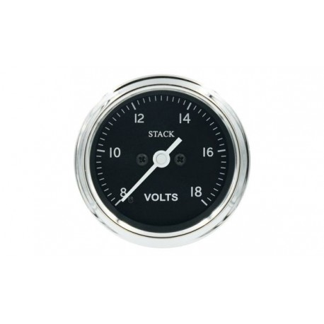 Stack Professional Battery Voltmeter Gauge (8-18 V) - black - CL