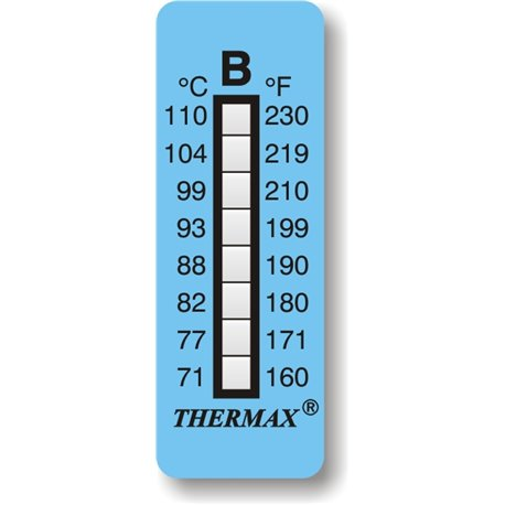 Thermax temperature indicator strips A-B-C