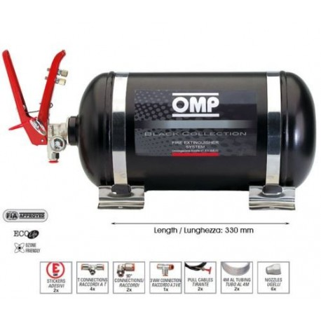 Omp fire extinguisher kit mechanical steel bottle