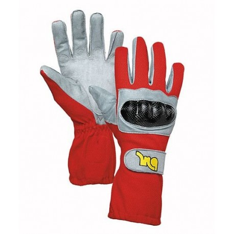 MQ Kart carbon gloves Red/11